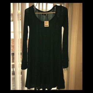 Urban Outfitters holly green tunic dress NWT